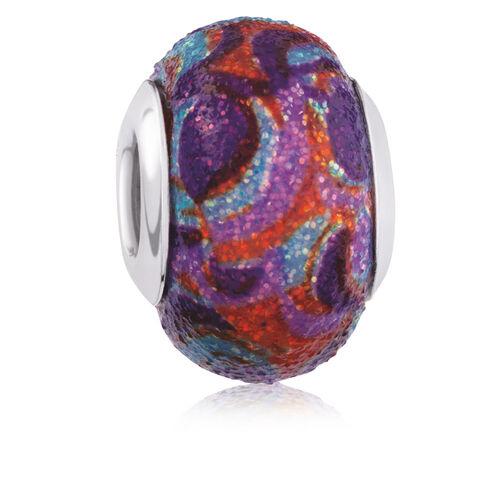 Multi-Coloured Enamel Glitter Charm