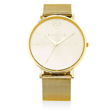 Large Watch in Gold Tone Stainless Steel