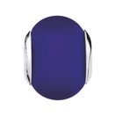 Dark Blue Matte Murano Glass Charm