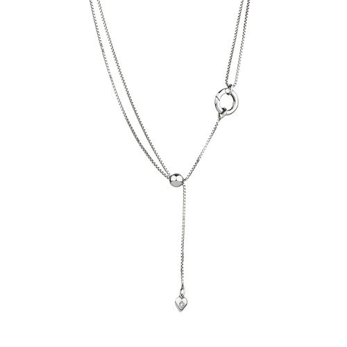 Adjustable Slider Chain in Sterling Silver