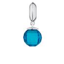 Aqua Glass & Sterling Silver Wild Hearts Dangle Charm