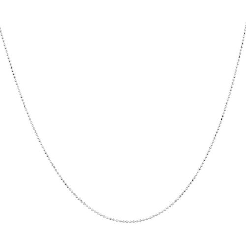 """45cm (18"""") Faceted Ball Chain in Sterling Silver"""
