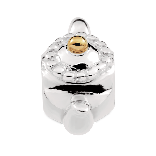 10ct Yellow Gold & Sterling Silver Teapot Charm