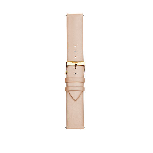 Lobster Leather Watch Strap with Gold Tone Stainless Steel