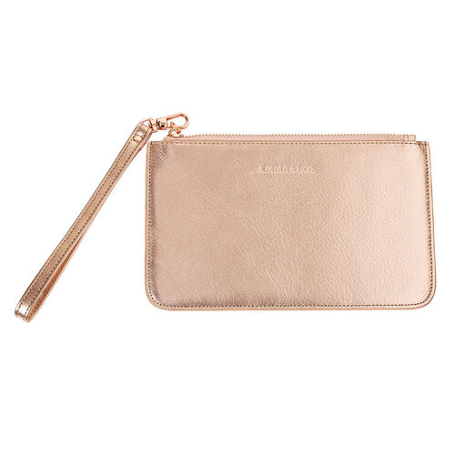 Clutch in Rose Gold Leather