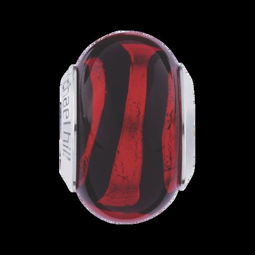 Red & Black Murano Glass Charm
