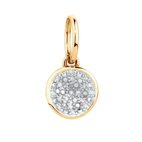 Diamond Set Mini Pendant in 10ct Yellow Gold