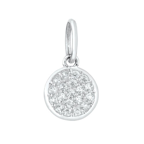 Mini Pendant with Cubic Zirconia in Sterling Silver