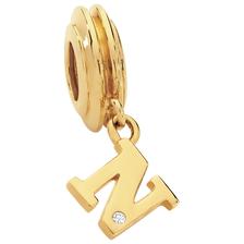 Diamond Set & 10ct Yellow Gold 'N' Charm