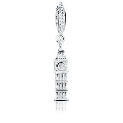 Sterling Silver Big Ben England Dangle Charm
