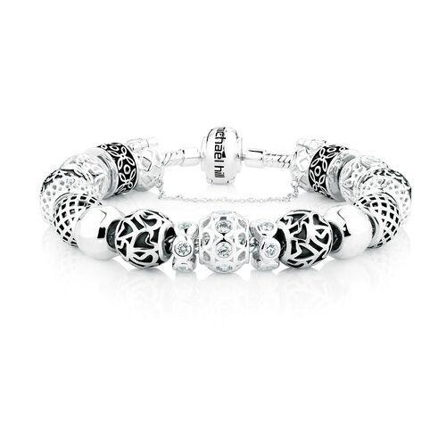 Sterling Silver Complete Charm Bracelet