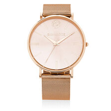 Rose Tone Stainless Steel Watch