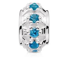 Blue Cubic Zirconia Charm