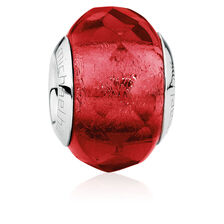 Red Faceted Glass Charm