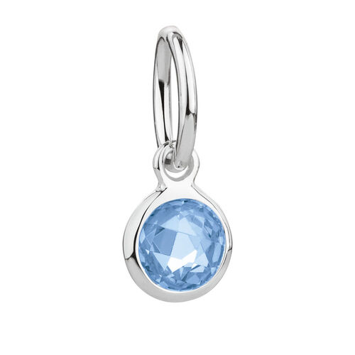 December Mini Pendant with Blue Crystal in Sterling Silver