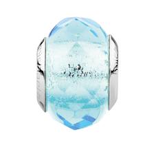Aqua Faceted Crystal Charm