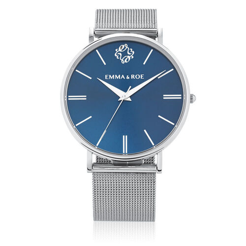 Large Watch in Stainless Steel