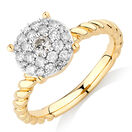 Stacker Ring with 1/2 Carat TW of Diamonds in 10ct Yellow Gold