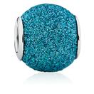 Blue Glitter Enamel Charm