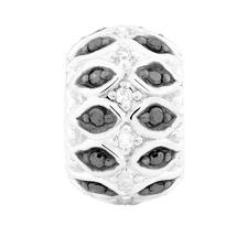 0.15 Carat TW White & Enhanced Black Diamond Charm