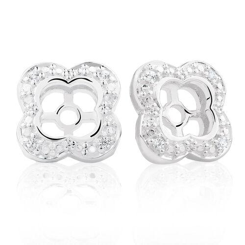 Cubic Zirconia & Sterling Silver Quatre Earring Enhancer