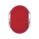 Bright Red Matte Murano Glass Charm