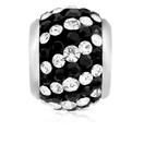 Black & White Crystal Charm