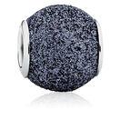 Grey Glitter Enamel Charm