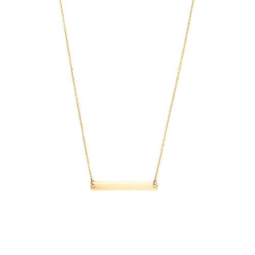 "45cm (18"") Bar Necklace in 10ct Yellow Gold"
