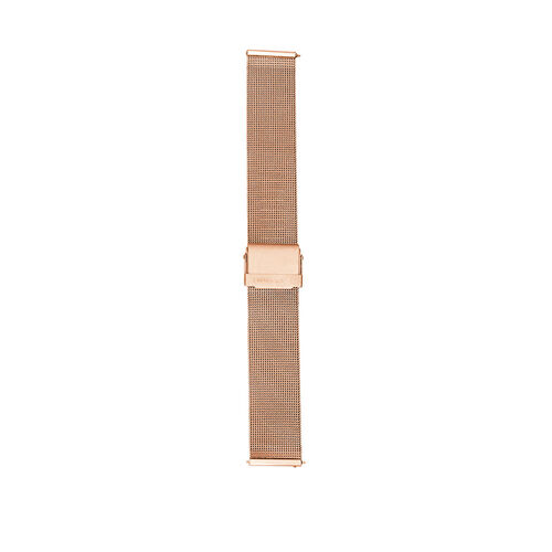 Large Mesh Watch Strap with Rose Tone Stainless Steel