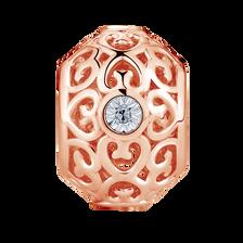 Diamond Set Filigree Charm