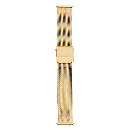 Small Mesh Watch Strap in Gold Tone Stainless Steel