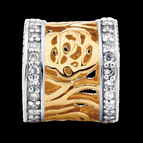 Diamond Set & 10ct Yellow & White Gold Charm