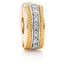 Diamond Set & 10ct Yellow Gold Stopper
