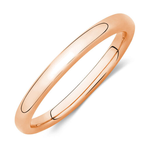 Plain Stacker Ring in 10ct Rose Gold