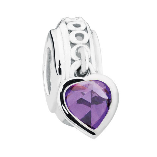 Sterling Silver February Heart Charm