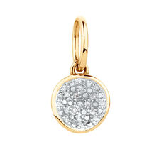 Diamond Set Mini Pendant in 10ct Yellow Gold