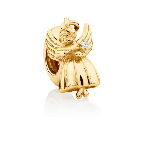 Angel Dangle Charm in 10ct Yellow Gold