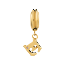 Diamond Set & 10ct Yellow Gold 'E' Charm