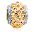 Diamond Set, 10ct Yellow Gold Charm
