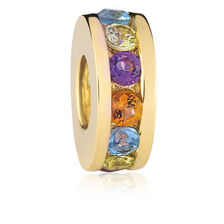 Multicolour & 10ct Yelllow Gold Charm