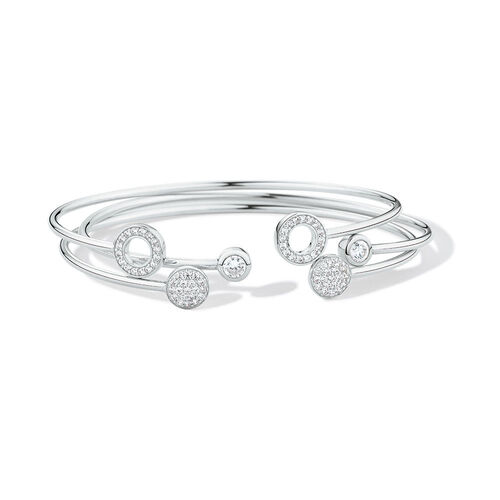 3 Bangle Set with Cubic Zirconia in Sterling Silver