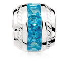 Blue Cubic Zirconia & Sterling Silver Charm