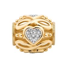 Diamond Set Infinity & Heart Charm