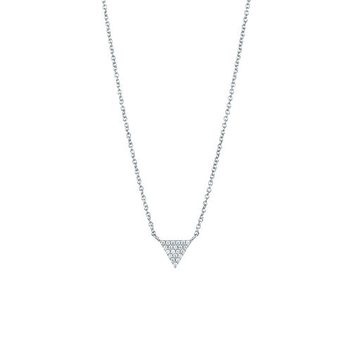 Triangle Necklace with Cubic Zirconia in Sterling Silver