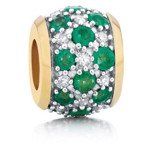 Emerald & Diamond Set  Charm