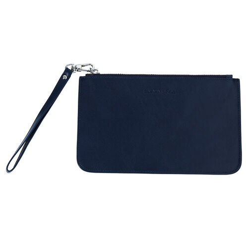 Clutch in Navy Leather