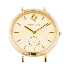 Small Watch Face in Gold Tone Stainless Steel