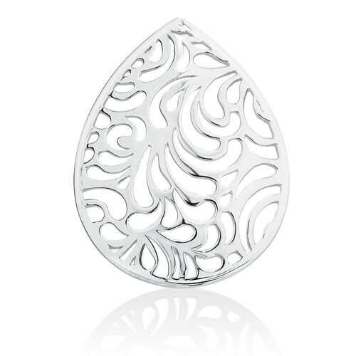 Filigree Coin Locket Insert in Sterling Silver