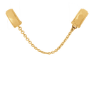 10ct Yellow Gold Patterned Safety Chain